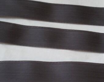 "Charcoal Grey Nylon Webbing - 3/4"" Wide Soft Grosgrain Nylon Webbing - 10 yards - Sewing, Ribbon, Supplies, Outdoor Gear Sewing, Webbing"