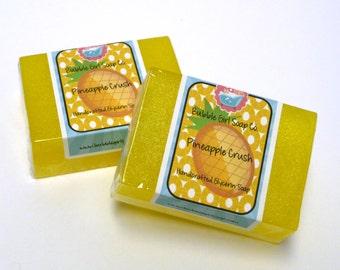 Pineapple Crush Glycerin Soap GIANT Bar Handmade by Bubble Girl Soap Co.