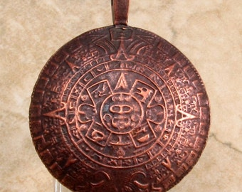 Aztec Pendant, Bronze, Greek Casting, 45 MM, M276