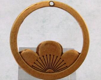 Floating Lotus Pendant, Brass Ox, Trinity Brass AB72