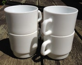 Vintage Arc France White Mugs