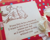 Winnie The Pooh Stamped Greeting Card - Friendship
