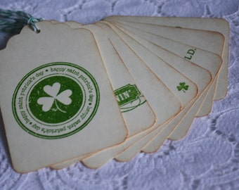 Handmade St.Patty's Day Gift Tags - St. Patrick's Day Vintage Gift Tag Assortment