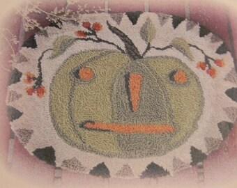 Bittersweet Pumpkin - PAPER punch needle pattern - from Notforgotten Farm