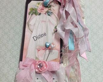 Feminine Handmade Large Gift Tag