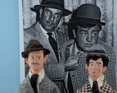 Abbott and Costello Doll Art Miniatures Old Hollywood Vaudeville Characters