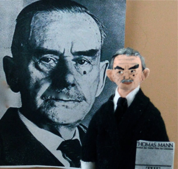 Thomas Mann Doll Art Miniature Author and Writer Art Character Nobel Prize