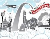 Meet Us In St. Louis Custom Postcards - CUSTOM TERRY