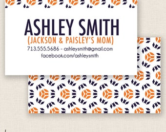 GEOMETRIC & AWESOME - Double Sided - DIY Printable - Mommy Calling Card Template