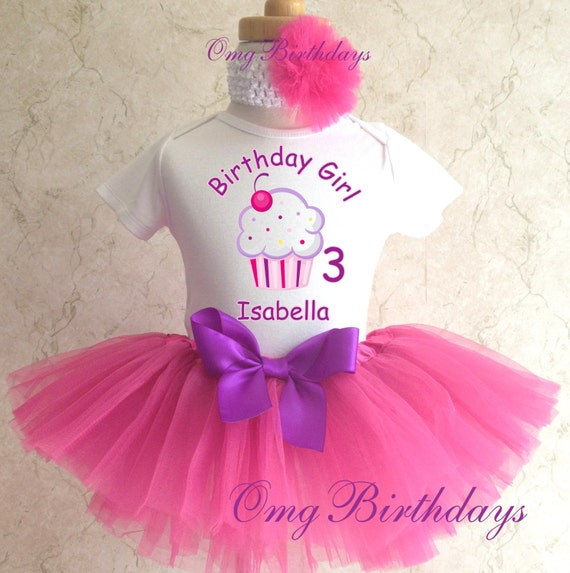 Cupcake 1st 2nd Birthday Personalized Name Age By TheTutuFairy