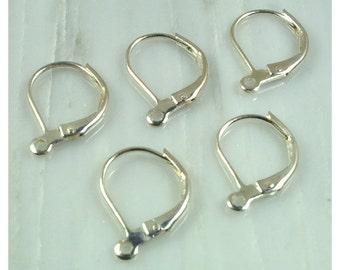 12 Silver Lever Ear wires | lever ear wires | silver earring findings
