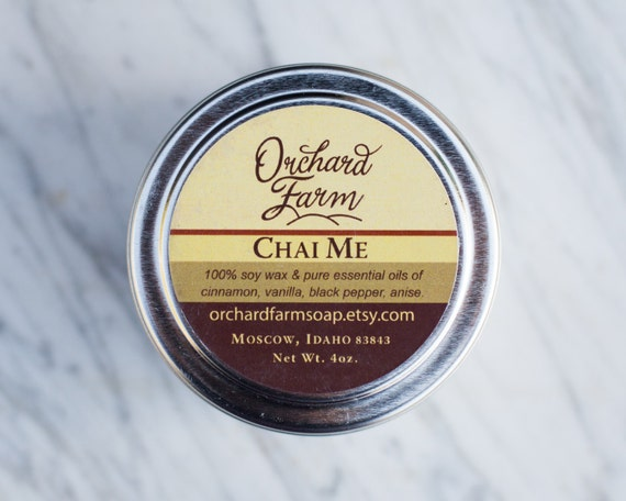 Chai Tea Soy Candle //Essential oils Scented Candle