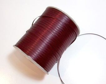 Dark Burgundy Ribbon, Wine Double-Faced Satin 1/8 inch wide x 10 yards, Wine Ribbon