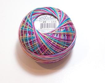 Tatting Thread, Lizbeth Size 20 Cotton Crochet Threa, Ocean Sunset, Color number 155