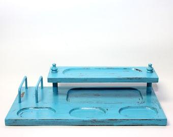 Turquoise Valet Desk or Dresser Organizer for Men or Women