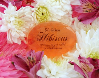 Hibiscus Soap from the Flower Garden