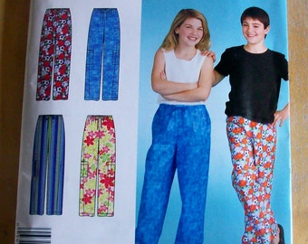 Simplicity E2052 Girls and Boys Pants Sewing Pattern