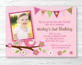 Cute Pink Birthday Invita...