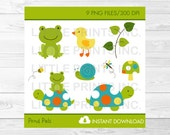 Frog & Turtle Clipart / T...