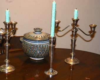Single 9.25 Inch Sterling Candlestick by Seidman NYC