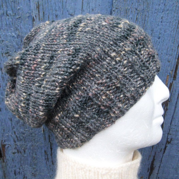 Knitting Pattern Simple Beanie : KNITTING PATTERN/CHARLEYMans Slouch Beanie Easy/ by RomeoRomeo