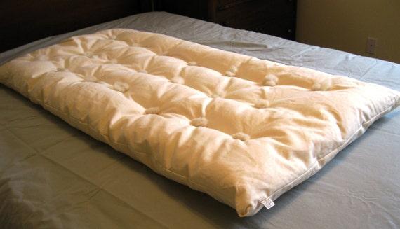 CRIB TOPPER Mattress Pad Wool Organic Cotton 30 X 50 Made In