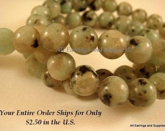 6mm Sesame Jasper Stone Semi Precious Beads Round C Grade - 16 inch - S9003ST-SJ6MM