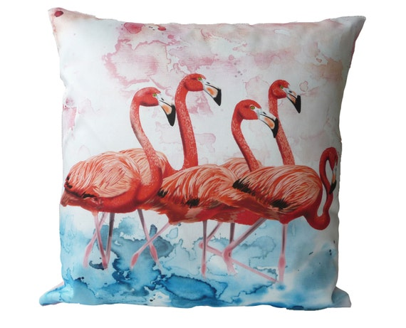 SALE Pillow case group of Flamingoes in 24x24 inch 60x60cm for throw pillow or accent pillow cushion cover, decorator pillow