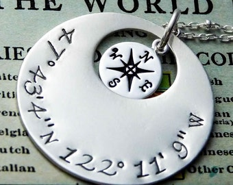 Latitude Longitude Personalized Pendant