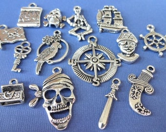 14 Pirate Themed Charms