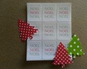 NOEL- holiday sticker labels