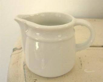 Old Restaurant Ware Ironstone Creamer White