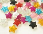 10 pcs Assorted Glitter Clear Star Cabochon (18mm19mm) IK126