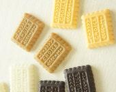 10 pcs Biscuit Cookie Cabochon (19mm24mm) CD525 (((LAST)))