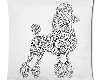 Personalized Poodle Pillow Cover Pillowcase Dog Breed Home Decor Bed Cushion