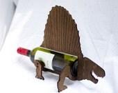 Wine-O-Saur Wooden Dinosaur Wine Rack Dimetrodon