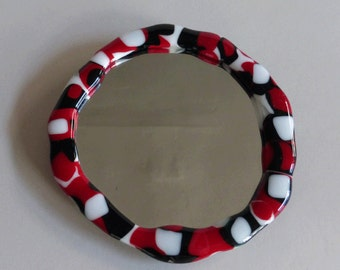 fused glass mirror
