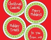 PRINTABLE Christmas Labels, DIY Holiday Stickers, DIY Christmas Gift Tags, Holiday Gift Tags, Merry Chritmas Stickers, Holiday Labels