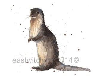 otter print 8x10 inches
