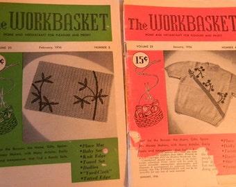 Vintage 1956 The Workbasket Magazine, set of 2