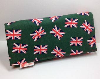 """British flag wallet. """"World's Greatest Wallet.""""  Card wallets for women.  Anglophile wallet."""