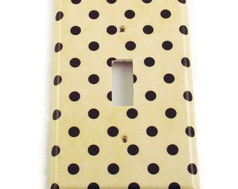 Light Switch Cover Wall Decor Light Switchplate Switch Plate in Polka   (171S)