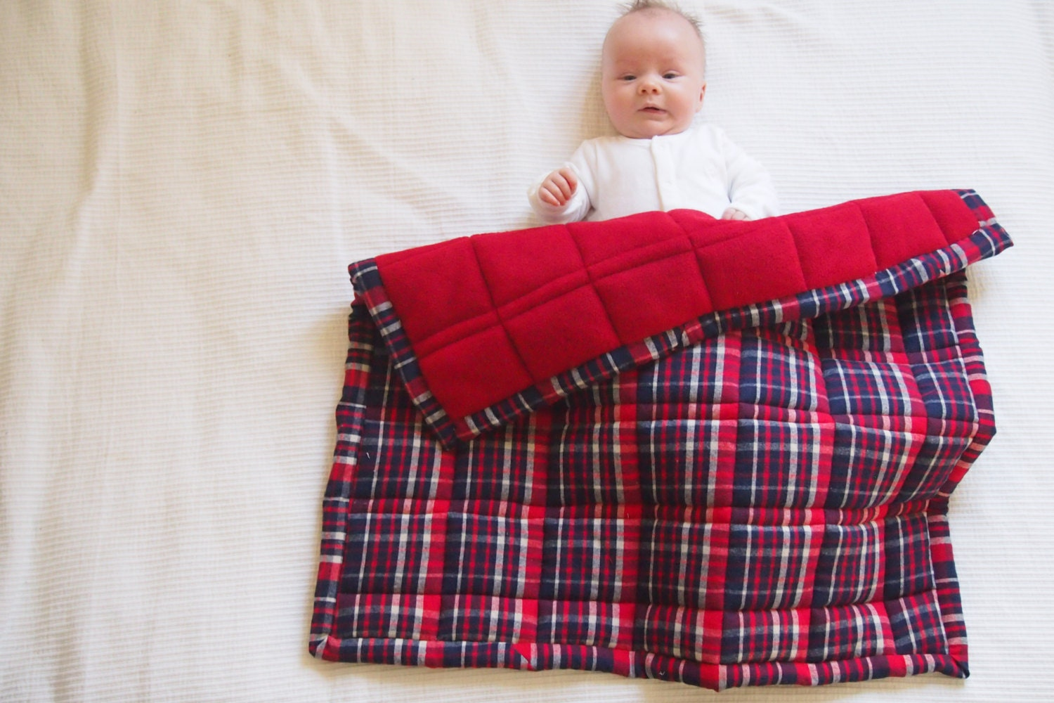 Plaid Baby Quilt: Plaid Flannel Baby Quilt Red And Blue