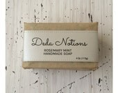 Rosemary and Mint - SHEA BUTTER SOAP - Cold Process Soap