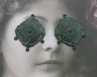 Verdigris Patina Earring Chandeliers 460VER x2