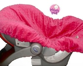 Infant Car Seat Cover Liner, Liner,  Minky Dot Liner, Slip Cover, Infant Carrier Cover , ALL Colors available
