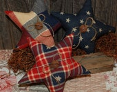 Americana Stars Primitive Bowl Fillers Summer Tucks Homespun Patriotic Ornies