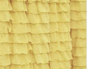 Ruffled Curtain Valance, Yellow, 13 inch Tall by 44 Inches Wide. Great for Nursery, Kitchens, Living Room