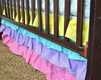 Items Similar To 3 Tiered Ruffle Crib Skirt In 2d Zoo
