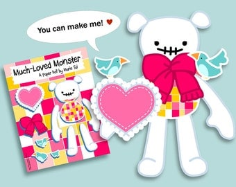PDF Much Loved Monster Jointed Paper Doll - Girl